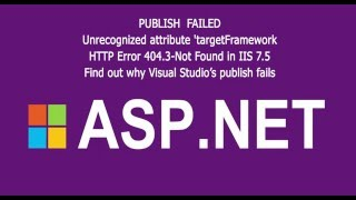 ASP.NET publish failed ( IIS issiues )