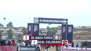 DA Playoffs: U-16/17 Quarterfinal - De Anza Force vs. Real Colorado
