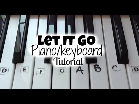 Let it Go (Frozen) Keyboard Tutorial (Right Hand With Notes)