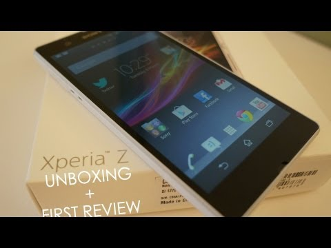 Sony Xperia Z White Unboxing and First Review