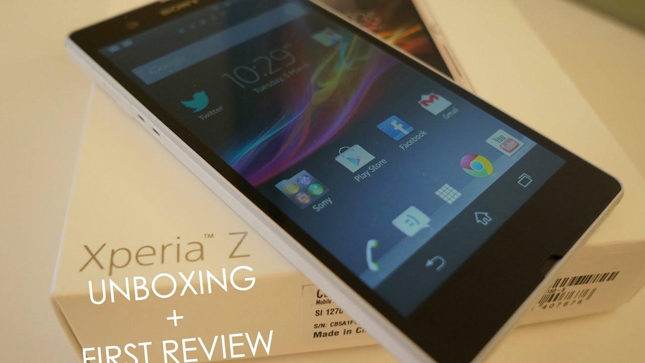 Xperia Z1 White Review Sony Xperia Z White Unboxing