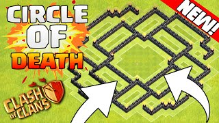 "Clash Of Clans-""NEW""CIRCLE OF DEATH!?CRAZY DEFENDING BASE!!!"" ""MUST SEE! Town Hall 8 2015"
