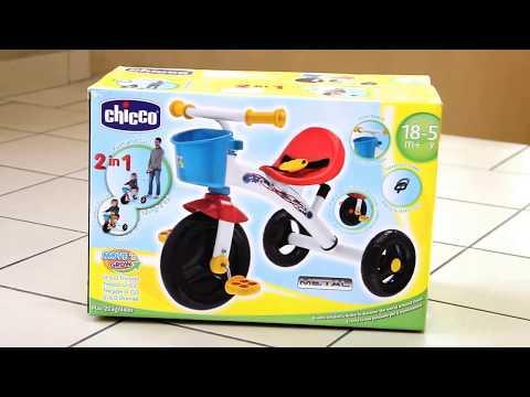 Обзор Chicco. Велосипед CHICCO U-GO TRIKE. Арт. 07412.00.