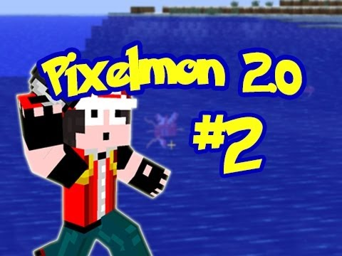 Minecraft: Pixelmon 2.0 - Episode 2 - Moon Walking Magikarp? (Pokemon Mod)