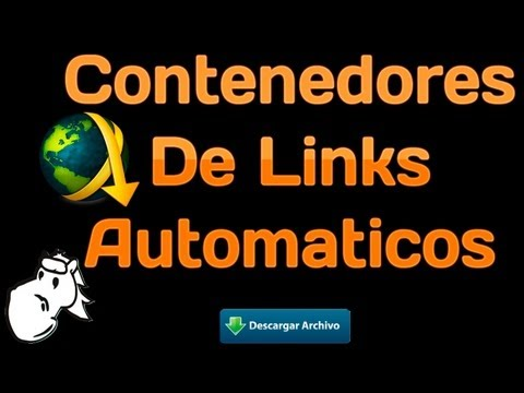 Como Hacer Contenedores De Links Automaticos Para el Jdownloader y Mipony