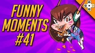 Overwatch FUNNY MOMENTS #41 - D.VA Gives up on Life | Highlights Montage