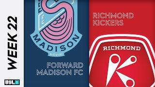Forward Madison FC vs. Richmond Kickers August 24th, 2019