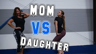 Mom VS Daughter Gymnastics Competition| Rachel Marie