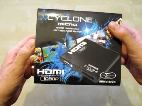 Unboxing - Sumvision Cyclone Micro HD HDMI 1080p Upscaling Multi Media Player Adaptor