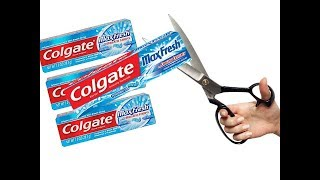 Colgate Empty Packets Reuse   Recycling empty Colgate Packets   DIY Home Decorating Idea