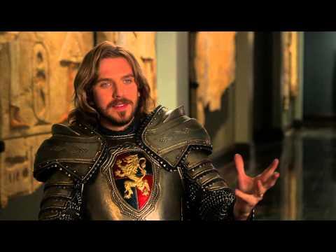 "Night At The Museum: Secret Of The Tomb: Dan Stevens ""Sir Lancelot"" On Set Interview"