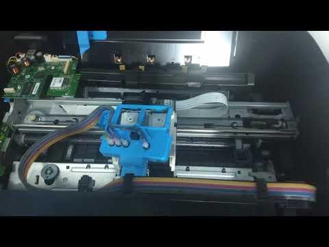 Como retirar o ar que fica na mangueira da impressora HP Deskjet GT5822.