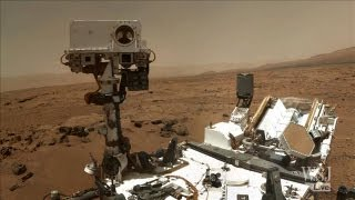 Mars Rover About to Drill into the Red Planet