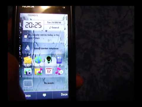 nokia 5800 with c6 fw and notifications widget