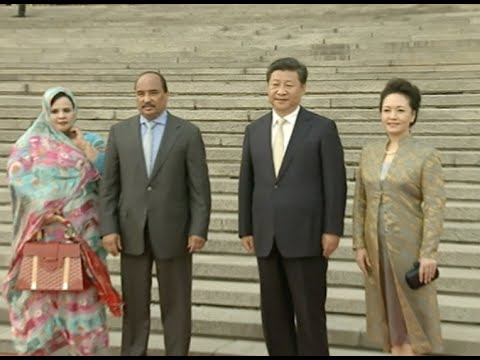 Chinese President Meets Mauritanian Counterpart