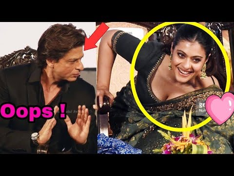Omg ! Shahrukh Khan recently saved Kajol from big oops moment at Kolkata Film Festival