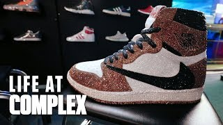 Travis Scott Air Jordan 1 Art Piece For $75,000! | #LIFEATCOMPLEX