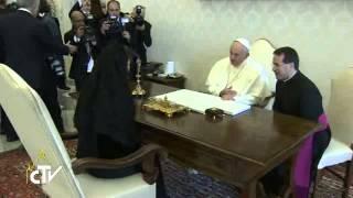 Queen of Sweden visits Vatican