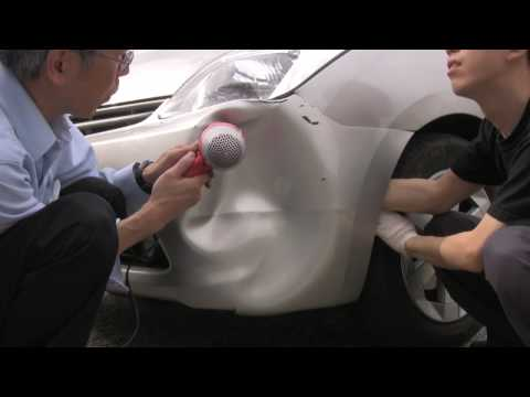 Major Prius Bumper Dent Repair