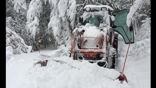 Tractor Plowing First Snow of the 2016-17 Minnesota Winter