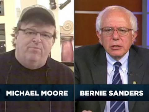 Senator Sanders and Michael Moore