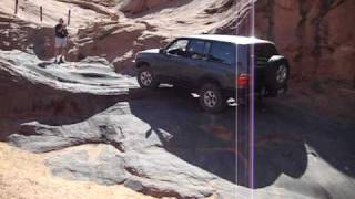 100 series Landcruisers up waterfall poison spider Moab