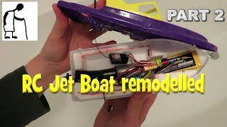 RC Jet Boat remodelled PART 2