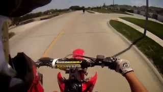 Crf250r and Crf450r vs. wanna-be cop