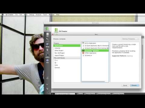 Tutorial Qt Creator C++ - 2 - Hello World (Em Português)