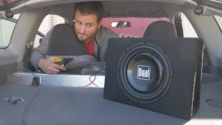 How bad is the $70 subwoofer from Walmart? Install | Review
