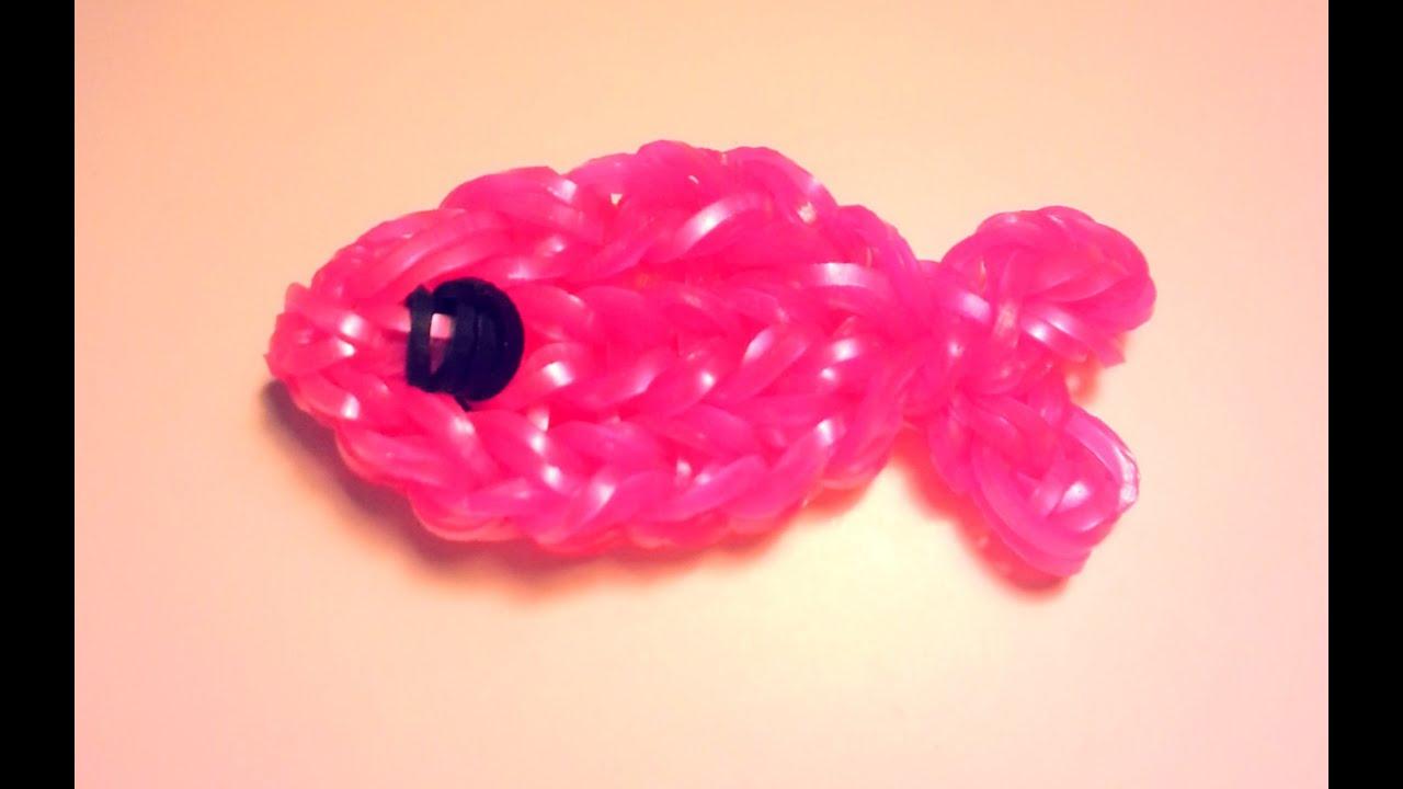 Comment faire un poisson avec des lastiques sans machine - Comment faire des bracelets en elastique ...