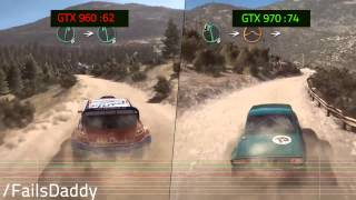 DIRT RALLY PC GTX 960 VS GTX 970 GAMEPLAY i7 4790 1080@60fps