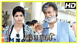 Kabali Tamil Movie | Rajini and Dhansika reach Chennai to meet Radhika Apte | John Vijay | Kishore