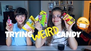 TRYING WEIRD CANDY | Baby Ariel