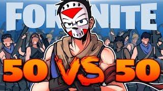 FORTNITE BR - SO MANY ENEMIES! (50 VS 50 Match!)