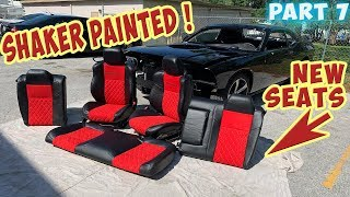 Rebuilding Wrecked Dodge Shaker from Copart. Garage Paint Job (Part 7)