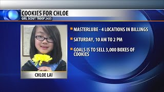 Girls Scouts selling cookies for Billings family who lost young girl