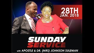 Sun. Service 28th Jan. 2018 LIVE With Apostle Johnson Suleman