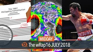 Charter change, Tropical Depression Henry, sports news | Midday wRap