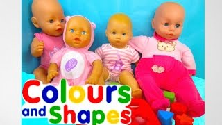 Learn Colors & Shapes with Baby doll toys, Kinder Surprise Eggs, Elsa Disney Frozen, McQueen