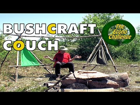 Bushcraft Practice - Wilderness Sofa - Econo Challenge