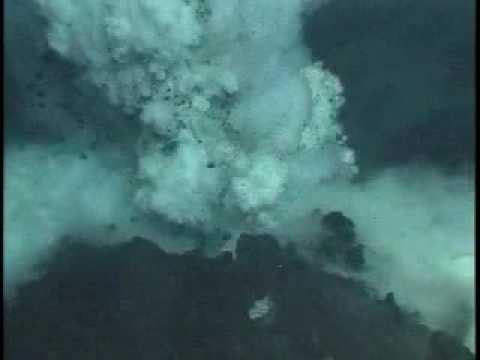 Submarine Ring of Fire 2006: NW Rota1 Brimstone Pit Erupting Video