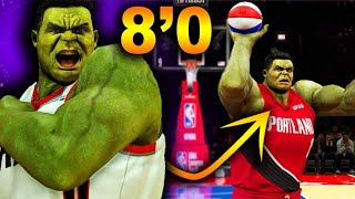 8 Foot 400 POUND HULK Hits 43 3 Pointers WITH ONE HAND... BREAKS The LAWS Of NBA 2K20!