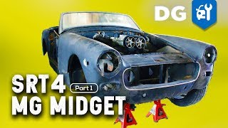 BUDGET RACE CAR: Turbo SRT4 RWD '73 MG Midget [EP1]