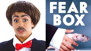 Jet Packinski Touches a Hairless Rat, Rooster & Other Weird Stuff in the Fear Box | Vanity Fair by : Vanity Fair
