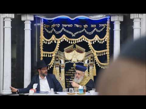 """הראשל""""צ הרב יצחק יוסף שליט""""א בנתניה עם הרב יוסף חיים גבאי שליט""""א"""