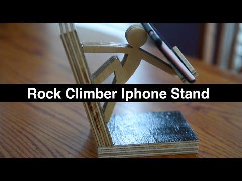 Rock Climber Iphone Stand -- DIY How to