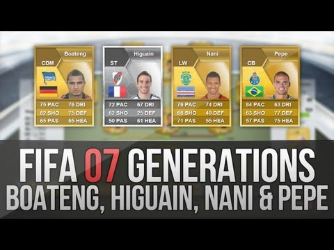 FIFA 07 Generations   Higuaín. Pepe. Boateng and Nani - Nation Changes!