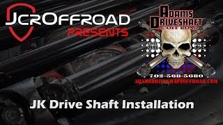 Adams Jeep JK Front and Rear Drive Shafts Installation - JcrOffroad
