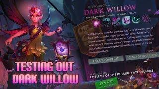 New Dota Hero!!! Dark Willow Overview (7.07 patch)